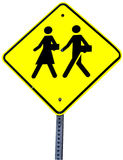 School crossing sign Royalty Free Stock Photography