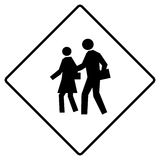 School crossing sign Stock Images