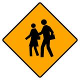 School crossing sign Stock Photography