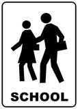 School crossing sign royalty free stock photos