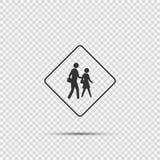 symbol school crossing sign on transparent background stock illustration