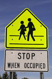 School Crosswalk Sign Royalty Free Stock Image