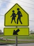 School Crosswalk Sign Stock Image
