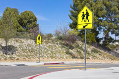 School Crosswalk Signs Royalty Free Stock Photo