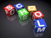 School cubes Royalty Free Stock Image