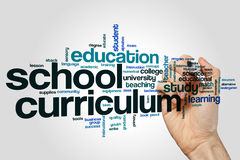 School curriculum word cloud Stock Image