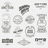 School of Dance badges logos and labels for any use Stock Image