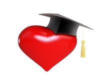 School dating. Graduation cap (Valentine\'s Day school Royalty Free Stock Photography