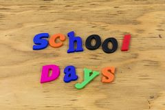 School day back fun preschool happy plastic royalty free stock images