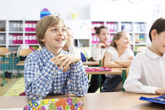 School day full of positive experiences royalty free stock image