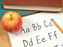School Days. A variety of classroom items found at school stock images