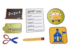 School Days elements Royalty Free Stock Photo