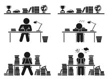 School days. Pictogram icon set. School children. Royalty Free Stock Photos