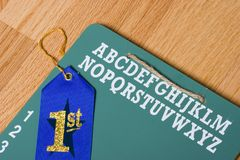 School days with ribbon royalty free stock photos