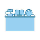 School desk with book isolated icon. Vector illustration design Royalty Free Stock Photography