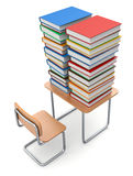 School desk with books Stock Images