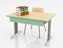 School desk and chair Stock Images