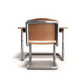 School desk and chair 3d render on white background Royalty Free Stock Photography