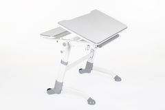 School desk and chair gray Royalty Free Stock Photo