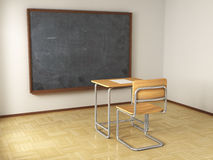 School desk and chair Royalty Free Stock Image