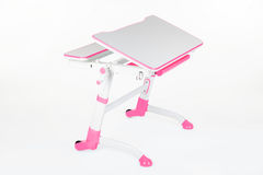 School desk and chair pink Stock Photography