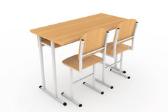 School Desk and Chairs Stock Photography