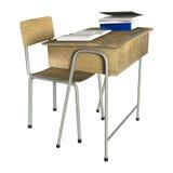 School Desk Royalty Free Stock Photo