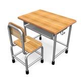 School Desk Royalty Free Stock Photos