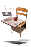 School desk floating stock image