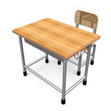 School Desk Front View Stock Photo