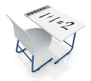 School desk with interactive display Royalty Free Stock Photography
