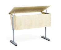 School desk isolated on white background. 3d render image Royalty Free Stock Images