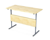 School desk isolated on white background. 3d rendering Royalty Free Stock Image
