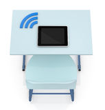School desk with tablet Stock Images