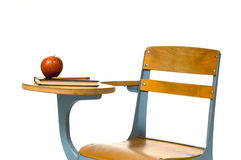 School Desk on White Royalty Free Stock Photography