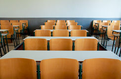 School Desks Stock Images