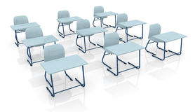 School desks Royalty Free Stock Photos