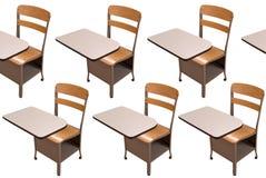 School desks Stock Images