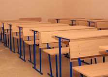 School desks. Royalty Free Stock Photography