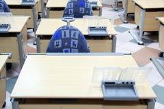 School Desks in Primary School Royalty Free Stock Photo