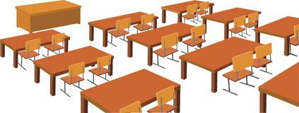 School desks Royalty Free Stock Image