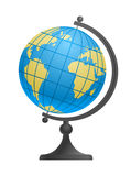 School Desktop Globe. Vector illustration of a school desktop glob vector illustration