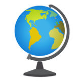 School desktop globe. Vector illustration on white royalty free illustration