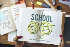 School die Bestuderend het Concept van de Onderwijskennis leren Stock Fotografie