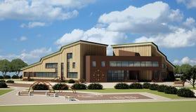 School die met kleuterschool wordt gecombineerd Stock Afbeeldingen