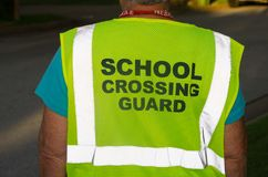 School die Wacht Vest kruisen stock fotografie