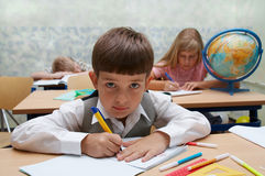 School. Different characters Stock Images