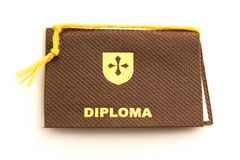 School Diploma royalty free stock images