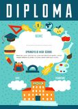 School Diploma Certificate Design Royalty Free Stock Images