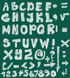 School Doodle alphabet Royalty Free Stock Images